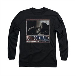 John Coltrane Shirt Prestige Recordings Long Sleeve Black Tee T-Shirt