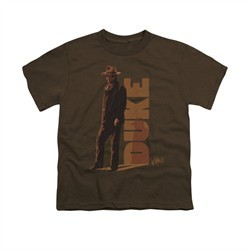 John Wayne Shirt Kids The Duke Coffee T-Shirt