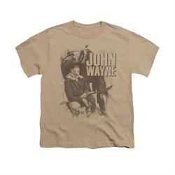 John Wayne Shirt Kids With His Horse Sand T-Shirt