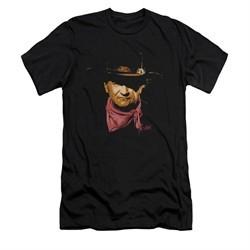 John Wayne Shirt Slim Fit Painted Portrait Black T-Shirt