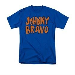 Johnny Bravo Shirt Jb Logo Adult Royal Blue Tee T-Shirt