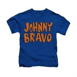 Johnny Bravo Shirt Kids Jb Logo Royal Blue Youth Tee T-Shirt