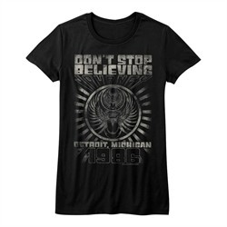 Journey Shirt Juniors Don't Stop Believing Black T-Shirt
