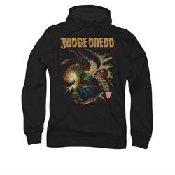 Judge Dredd Hoodie Punch Blast Black Sweatshirt Hoody