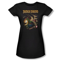 Judge Dredd Shirt Juniors Punch Blast Black T-Shirt