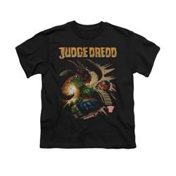 Judge Dredd Shirt Kids Punch Blast Black T-Shirt