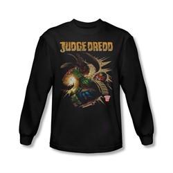 Judge Dredd Shirt Punch Blast Long Sleeve Black Tee T-Shirt