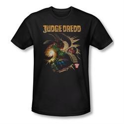 Judge Dredd Shirt Slim Fit Punch Blast Black T-Shirt