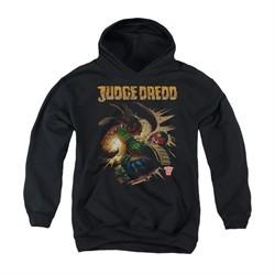 Judge Dredd Youth Hoodie Punch Blast Black Kids Hoody