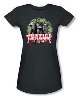 Justice League Juniors T-shirt Superheroes JLA Trio Charcoal Tee Shirt