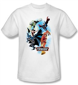 Justice League Kids T-shirt At Your Service Youth White Tee Shirt