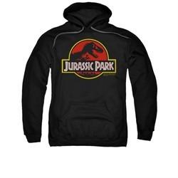 Jurassic Park Hoodie Sweatshirt Classic Logo Black Adult Hoody Sweat Shirt