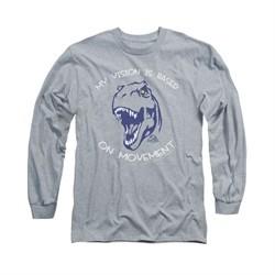Jurassic Park Shirt My Vision Long Sleeve Athletic Heather Tee T-Shirt
