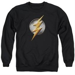 Justice League Movie Flash Logo Adult Black Sweatshirt