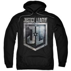 Justice League Movie Hoodie Shield Logo Black Sweatshirt Hoody