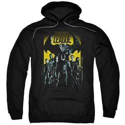 Justice League Movie Hoodie Stand Up To Evil Black Sweatshirt Hoody