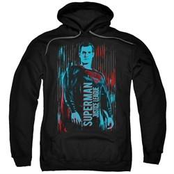 Justice League Movie Hoodie Superman Black Sweatshirt Hoody