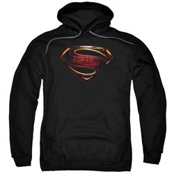 Justice League Movie Hoodie Superman Logo Black Sweatshirt Hoody