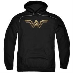 Justice League Movie Hoodie Wonder Woman Logo Black Hoody