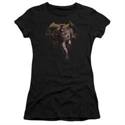 Justice League Movie Juniors Shirt Caped Crusader Black T-Shirt