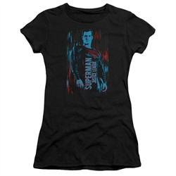 Justice League Movie Juniors Shirt Superman Black T-Shirt