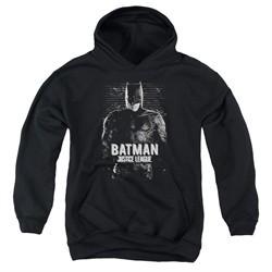 Justice League Movie Kids Hoodie Batman Profile Black Youth Hoody
