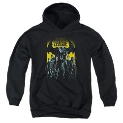 Justice League Movie Kids Hoodie Stand Up To Evil Black Youth Hoody