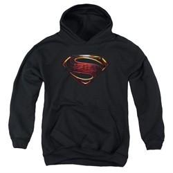 Justice League Movie Kids Hoodie Superman Logo Black Youth Hoody