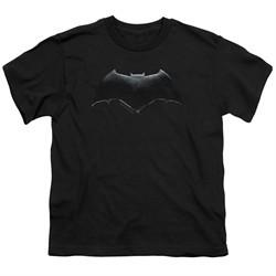 Justice League Movie Kids Shirt Batman Logo Black T-Shirt