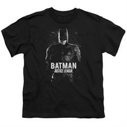 Justice League Movie Kids Shirt Batman Profile Black T-Shirt
