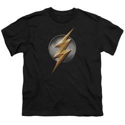 Justice League Movie Kids Shirt Flash Logo Black T-Shirt