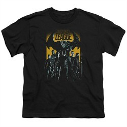 Justice League Movie Kids Shirt Stand Up To Evil Black T-Shirt