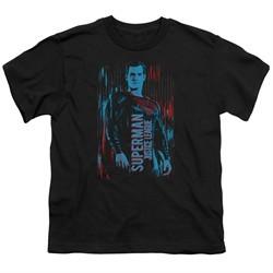 Justice League Movie Kids Shirt Superman Black T-Shirt