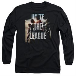 Justice League Movie Long Sleeve Dawn Unite the League Black T-Shirt