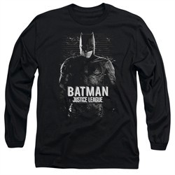 Justice League Movie Long Sleeve Shirt Batman Profile Black T-Shirt