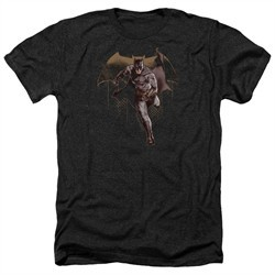 Justice League Movie Shirt Caped Crusader Heather Black T-Shirt