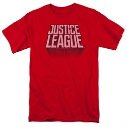 Justice League Movie Shirt Distressed Logo Red T-Shirt