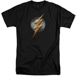 Justice League Movie Shirt Flash Logo Black Tall T-Shirt