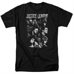 Justice League Movie Shirt Pushing Forward Black T-Shirt