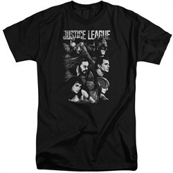 Justice League Movie Shirt Pushing Forward Black Tall T-Shirt