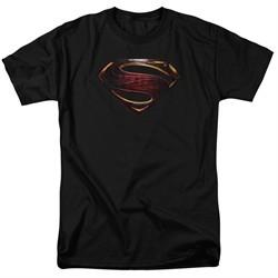 Justice League Movie Shirt Superman Logo Black T-Shirt