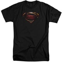 Justice League Movie Shirt Superman Logo Black Tall T-Shirt