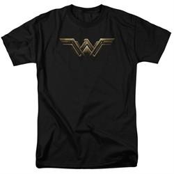 Justice League Movie Shirt Wonder Woman Logo Black T-Shirt