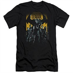 Justice League Movie Slim Fit Shirt Stand Up To Evil Black T-Shirt