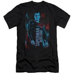 Justice League Movie Slim Fit Shirt Superman Black T-Shirt