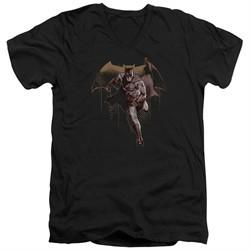 Justice League Movie Slim Fit V-Neck Caped Crusader Black T-Shirt