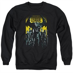 Justice League Movie Stand Up To Evil Adult Black Sweatshirt