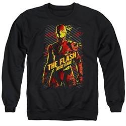 Justice League Movie Sweatshirt The Flash Adult Black Sweat Shirt