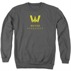 Justice League Movie Sweatshirt Wayne Aerospace Charcoal Sweat Shirt