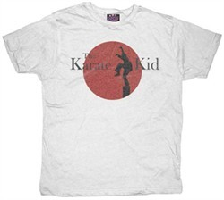 Karate Kid T-shirt Movie Logo Adult White Tee Shirt